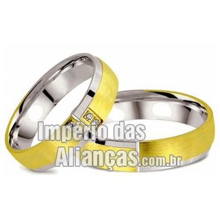 Alianças  de noivado e casamento em Ouro 18k e prata