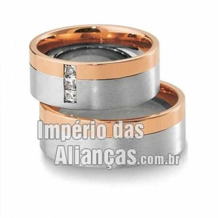 Alianças de casamento em Ouro 18k 750