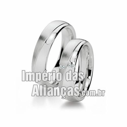 Alianças de noivado e casamento em ouro branco 18k - Império das ... 2bb8a88e9c