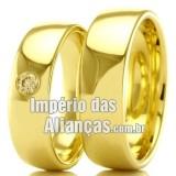 Alianças  em ouro para casamento
