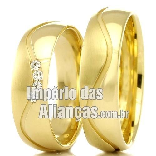 9adf5e2e5 Alianças de casamento e noivado em ouro 18k - Império das Alianças