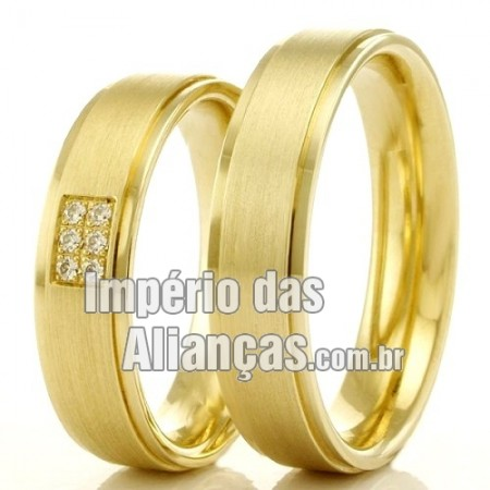 Alianças  de casamento e noivado em ouro 18k