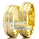 Aliança em ouro amarelo e...