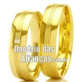 Alianças de Noivado em Ouro
