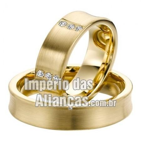 Alianças de ouro noivado e casamento
